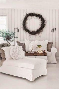 large twig wreath.
