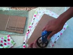 How to Make a Doll Sofa 2 - YouTube - uses cardboard box, old towel, fabric scraps (or old clothes)
