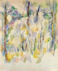 In the Woods, Paul Cezanne, 1900