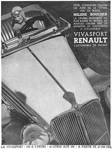 Hélène Boucher (Paris, 23 mai 1908 - Guyancourt, 30 novembre 1934) est une aviatrice française. Elle a battu de nombreux records de vitesse. En 1934, elle s'engage avec les aviatrices Maryse Bastié et Adrienne Bolland dans le combat féministe et devient militante pour le vote des Françaises au côté de Louise Weiss.