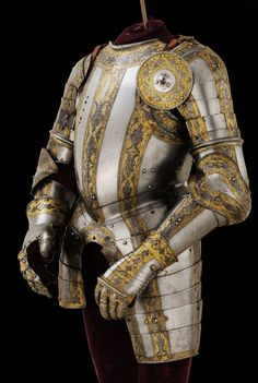 Embossed, engraved and gilt steel… Armadura Medieval, Armor All, Arm Armor, Medieval Knight, Medieval Armor, National Gallery Of Art, Helmet Armor, Ancient Armor, Armor Clothing