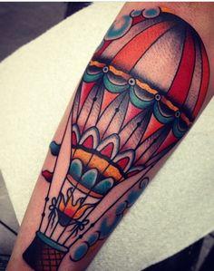 Balloon tattoo old school