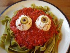 Fun Halloween pasta dinner idea