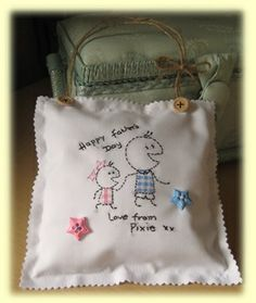 Father's Day mini pillow (6x6 inch)