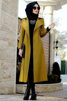 Muslim fashion with long dresses. Islamic Fashion, Muslim Fashion, Modest Fashion, Fashion Outfits, Womens Fashion, Style Fashion, Hijab Dress, Hijab Outfit, Moslem