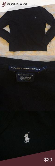 a95d0a72cffe34 Ralph Lauren Black long sleeve size large Black long sleeve t shirt from  Ralph Lauren