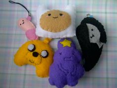 Felt Adventure Time Keychains or Ornaments (2). $6.00, via Etsy.