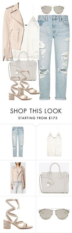 """Untitled #3006"" by charline-cote ❤ liked on Polyvore featuring Denim & Supply by Ralph Lauren, Haider Ackermann, AllSaints, Yves Saint Laurent, Gianvito Rossi and Christian Dior"