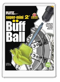 "Flitz SM 10250-6A Yellow 2"" Super-Mini Original Buff Ball - Clamshell Packaging, (Pack of 6) - http://www.productsforautomotive.com/flitz-sm-10250-6a-yellow-2-super-mini-original-buff-ball-clamshell-packaging-pack-of-6/"