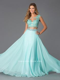 Shop for prom and formal dresses at PromGirl. Formal dresses for prom, homecoming party dresses, special occasion dresses, designer prom gowns. Grad Dresses Long, Prom Dresses Two Piece, Cute Prom Dresses, Pretty Dresses, Homecoming Dresses, Beautiful Dresses, Chiffon Dresses, Two Piece Quinceanera Dresses, Designer Prom Dresses