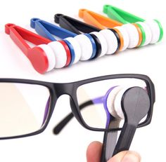 This Spectacle Glasses Cleaner consists of a microfiber pad and plastic hands. Put the glasses lens between the cleaner and then simply brush the glasses by moving the pad. An affordable and unique promotional item for health care, school, eye glass retailers, and more. Available in an assortment of colors. #promotional #products