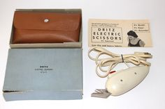 Vtg Dritz Electric Scissors w Case Box Thin and Thick Fabric Arthritis Helper | eBay