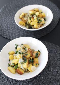 Gnocchi, dicke Bohnen, Kräuter, Zwiebeln, vegan, Food, gesund, healthy, Pasta…