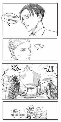 Attack On Titan Funny, Attack On Titan Ships, Attack On Titan Anime, Levi And Erwin, Levi X Eren, Armin, Levi Ackerman, Manga Anime, Aot Anime