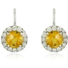 Forzieri Earrings 043 ct Diamond Pave 18K White Gold Earrings... (48.195 CZK) ❤ liked on Polyvore featuring jewelry, earrings, quartz earrings, citrine earrings, white gold jewelry, 18 karat gold jewelry and sparkly earrings