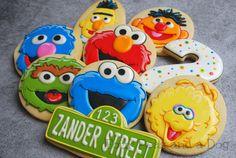 Sesame Street Birthday Cakes, Sesame Street Cupcakes, Sesame Street Cookies, Sesame Street Party, Girl 2nd Birthday, Elmo Birthday, Birthday Cookies, Birthday Ideas, November Birthday