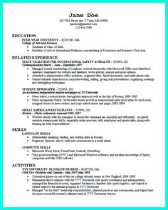 Resume Format For Bpo Jobs Nice Write Properly Your Accomplishments In College Application .