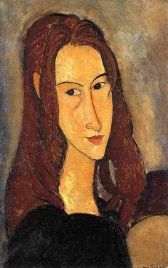 'Red Haired Girl', öl auf leinwand von Amedeo Modigliani (1884-1920, Italy)