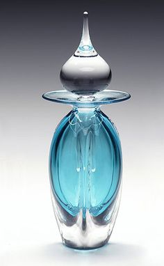 Luxury teal perfume bottle for very special scent...
