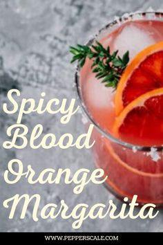Blood oranges are such a delicious fruit. Take a normal orange and multiply its flavor by two – it's just a perfect sweetness, almost berry-like, with that delicious orange tang. This is one bold fruit that matches very well with the spiciness of chili peppers and tequila. #bloodorange #margarita #tequila #spicy #drinkrecipe Frozen Drink Recipes, Frozen Cocktails, Sangria Recipes, Margarita Recipes, Punch Recipes, Margarita Tequila, Blood Orange Margarita, Chipotle Recipes, Beer Recipes