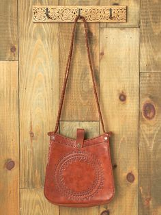 Free People Medallion Leather Shoulder Bag, $128.00