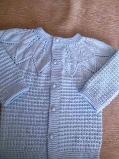 This Pin was discovered by Bir - Strick Muster Baby Cardigan, Baby Pullover, Crochet Cardigan, Knit Crochet, Knitted Cape, Baby Coat, Vest Pattern, Mellow Yellow, Vintage Knitting
