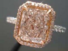 Pink asscher cut ring. I want this :)