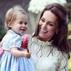 The Duchess of Cambridge with her daughter Princess Charlotte at a children's party for Military families at Government House in Victoria #RoyalVisitCanada  press association