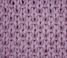 The ribboned stockinette is an easy reversible stitch created with simple knit, ., The ribboned stockinette is an easy reversible stitch created with simple knit, purl and slip stitches. It got its name from the horizontal lines of y. Knit Purl Stitches, Knitting Stiches, Crochet Stitches Patterns, Knitting Charts, Loom Knitting, Free Knitting, Stitch Patterns, Knitting Patterns, Simple Knitting