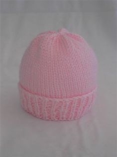 Easy Newborn Hat Knitting Pattern Knit with Straight Needles OR Double Pointed N. : Easy Newborn Hat Knitting Pattern Knit with Straight Needles OR Double Pointed Needles Free pattern for charitable purposes and perso… Baby Hat Knitting Patterns Free, Baby Hat Patterns, Baby Hats Knitting, Knitted Hats, Free Pattern, Crochet Hats, Knitting Help, Kids Knitting, Knitting Ideas