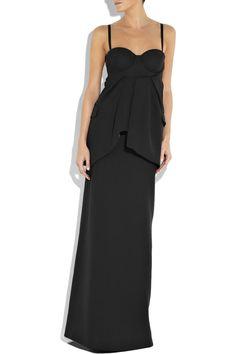 PREEN wool-crepe gown