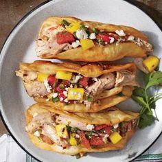 Crunchy Jerk Tacos with Watermelon-Mango Salsa | MyRecipes.com