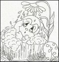 Ladybug bathtub  Embroidery
