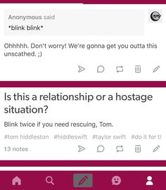 Once you fall in love, you sometimes refuse to see the red flags in the other person!  I'm sure there is some good in her  BUT when you have SO MANY speaking out about her negative qualities, it makes me cringe for him!  Good Luck Tom!!!  News about #hiddleswift on Twitter