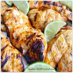 Kickin Chicken Marinade - Buffalo Style! Only 4 ingredients {Franks RedHot, olive oil, lime juice and garlic} So simple! So good! Also great with shrimp!   SweetLittleBluebird.com