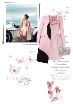 """Pink love🌸"" by umacat ❤ liked on Polyvore featuring The 2nd Skin Co., MSGM and Valentino"