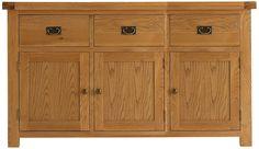 oldbury 3 door 3 drawer rustic oak sideboard