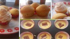Jednoduchý recept na tie najlepšie muffiny: Len vymiešaj cesto, pridaj do košíčkov čokoládu a už máš hotovo! Cheesecake Brownies, Crafts For Kids, Dessert Recipes, Cooking Recipes, Cupcakes, Cookies, Breakfast, Presne Tak, Basket