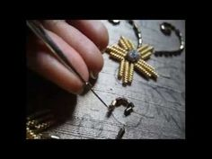 Zardosi needle & thread Bead Sequence Fabric Art ❤ https://www.youtube.com/watch?v=778pYbhNCLc