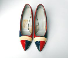 1950's Rare Town & Country Red White and Blue by LaOohLaLaBoutique