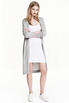 Lyhyt trikoomekko - Valkoinen - Ladies | H&M FI 1