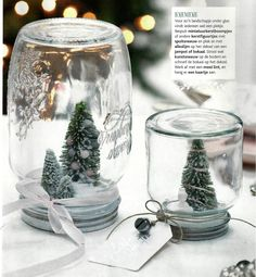 tafeldecoratie Snow Globes, Candle Holders, Candles, Christmas, Home Decor, Mini, Blog, Xmas, Weihnachten