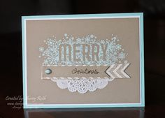 Sherry's Stamped Treasures: Seasonally Scattered Christmas Card