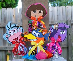 Dora and Friends Toppers by OohLalaCreation on Etsy, $16.00