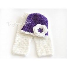 Newborn baby set, Baby set, Crochet hat and diaper cover outfit