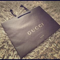 """authentic [gucci] shopping bags//. authentic, unused, & still folded. Great for fashionable storage! Why bundle overpriced, used bags with dents/creases/scratches ?! Medium Bags $10