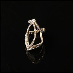 The Last #Fashion Brighton Crystal/Alloy/Gold Plated Ring Diamond Style Band Rings Wedding/Party/Casual 1pc
