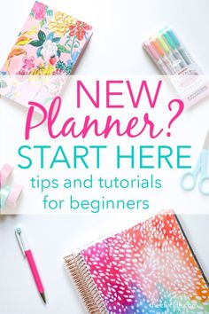 So you have a new planner but you have no idea where to start? Start here! Ive gathered my best beginner planner tips to help you use and decorate your planner with videos and photos of my actual layouts. Planner Layout, Planner Pages, Printable Planner, Planner Stickers, Planner Ideas, 2015 Planner, Planner Supplies, Printables, Best Planners