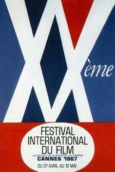 Official Festival de Cannes Poster, 1967