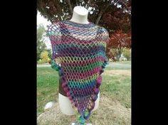 CROCHET How to #Crochet Easy Ladies Shawl Wrap #TUTORIAL #274 LEARN CROCHET - YouTube